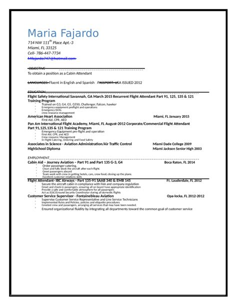Sle Resume Objective Philippines stewardess resume sle 28 images sle flight attendant