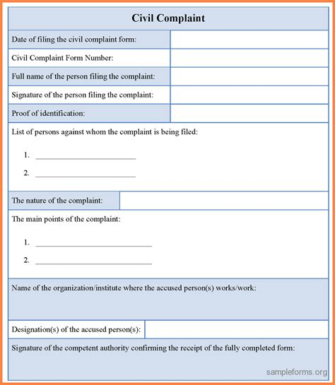 customer complaint form template complaints forms templates customer complaint form png