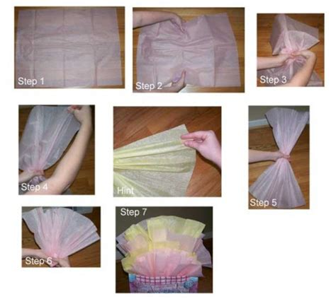 How To Fold Tissue Paper - how to place tissue paper in a gift bag and make it look