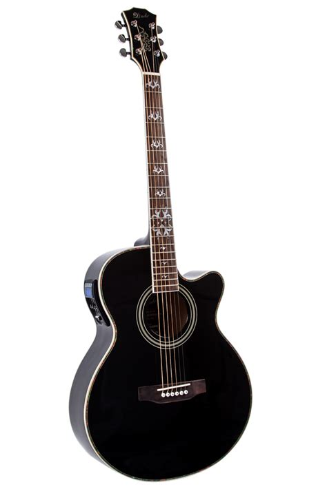 Guitar Black lindo black electro acoustic guitar gigbag free