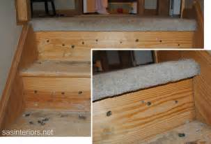 Changing Stairs From Carpet To Wood by Remodelaholic Carpet To Wood Stairs