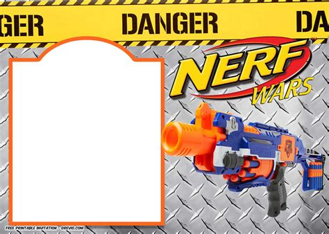 Nerf Gun Party Invitation Template Free Invitation Templates Drevio Nerf Invitation Template Free