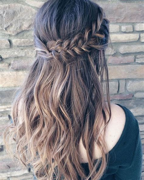 Half Up Braided Hairstyles by 25 Best Ideas About Braid Hair On Hair Hair
