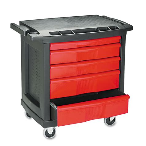 heavy duty utility cart with drawers rubbermaid 5 drawer heavy duty mobile work center trash