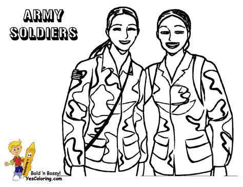 Noble Army Coloring Picture Uniform Coloring Female Coloring Pages For Soldiers