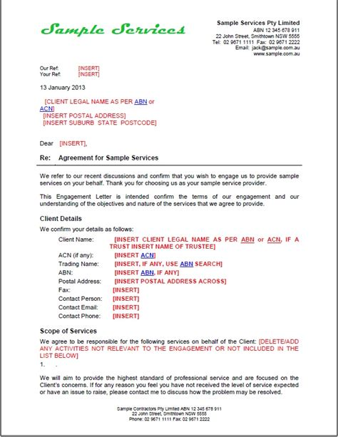 engagement agreement template new tradesafe contracts documentation overview sles