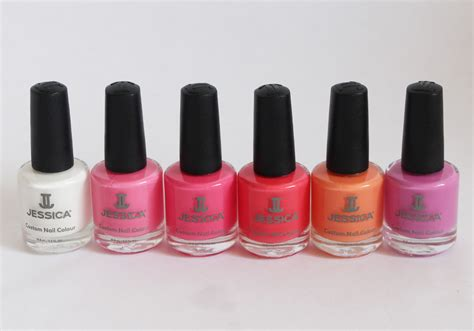 jessica coral symphony collection spring 2014 of life and lacquer jessica cosmetics coral symphony spring 2014 nail polish