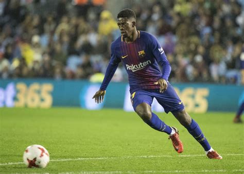 barcelona dembele dembele returns for barcelona in 1 1 draw at celta in copa