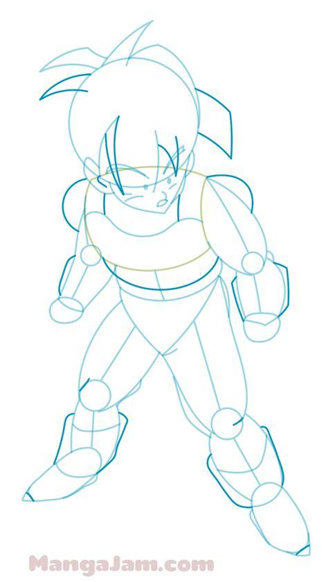 How To Draw Saiyan Armor how to draw gohan in saiyan armor from