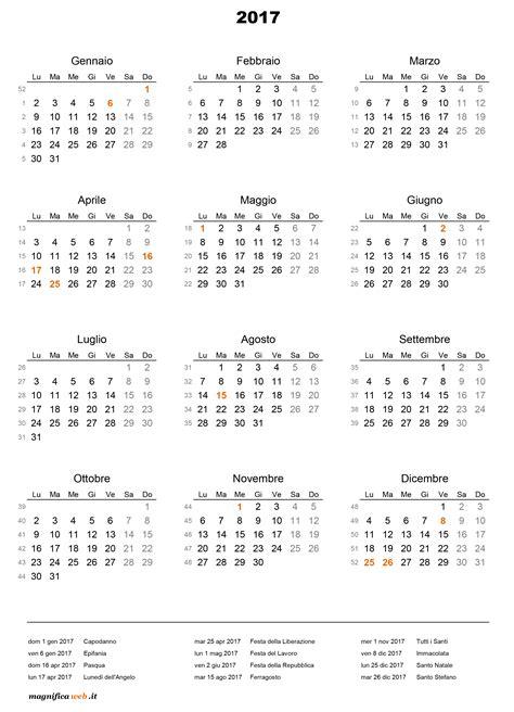 Calendario 2017 Con Calendario 2017 Con Festivit 224 Da Stare In Excel E Pdf