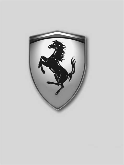 ferrari emblem black and white sports kindle screensavers