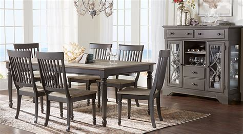 kitchen and dining room furniture home grove gray 5 pc dining room