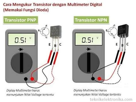 cara mengukur transistor jenis pnp dan npn cara menentukan jenis transistor npn dan pnp dengan digital multimeter teknik elektronika