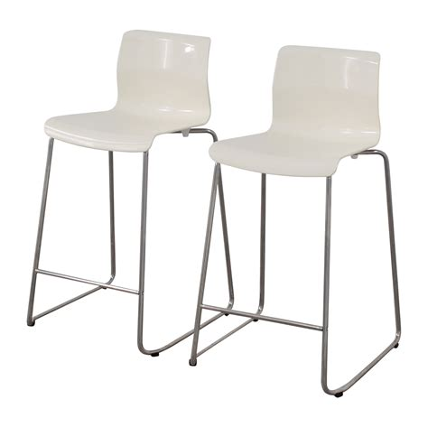 Ikea Glenn Bar Stool White by 85 Ikea Ikea White Glen Bar Stools Chairs