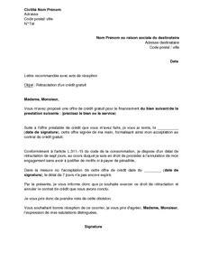 Courrier type modele de lettre de travail | Degisco