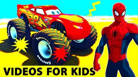 monster truck videos for kids monster truck cartoon videos on youtube monster jam grave