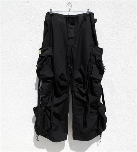 90s Rave Pants Cyber Goth Pants Industrial Multi Pocket