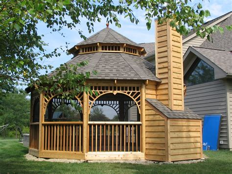 wooden screened gazebo plans gazebo for small backyard