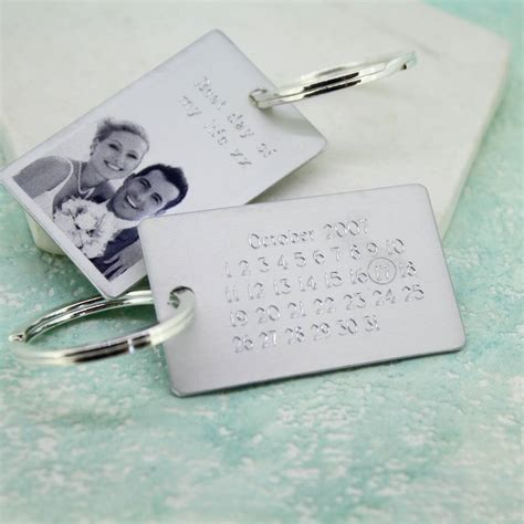 Wedding Anniversary Keyring by Personalised Anniversary Keyring By Carole Allen Silver