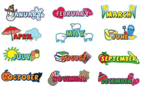Bedroom Wall Ideas inspirational playgrounds 12 piece months of the year wall
