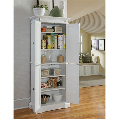 Dish Storage Cabinet by Home Styles Americana White Pantry Pantry Cabinets At