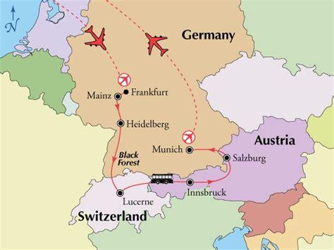 Germany Austria Map by Germany Austria And Switzerland Germany Austria And