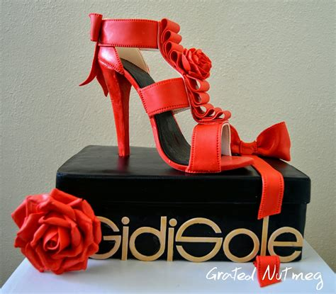 How To Make A High Heel Shoe Out Of Paper - shoe box cake grated nutmeg