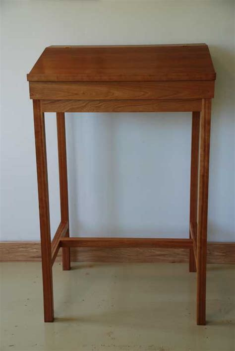 cherry stand up writing desk hardwood shaker desk made