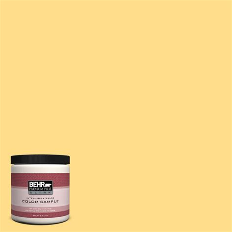 home depot behr paint yellow behr premium plus ultra 8 oz 330b 5 yellow corn interior