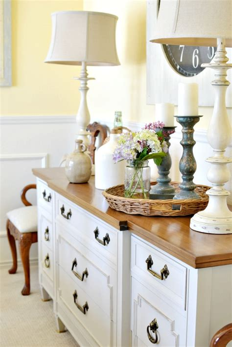 dining room buffet table makeover   picket fence