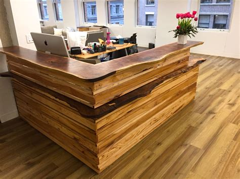 Reception Desk Wood Live Edge Reception Desk Design Trifecta Henry Leggett M A