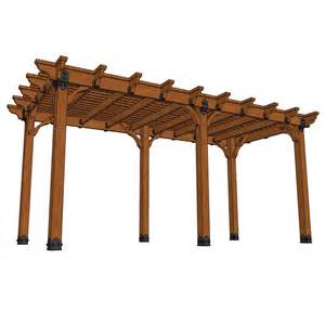 10 X 20 Pergola by Design Craft Millworks 10 Ft X 20 Ft Diy Western Red