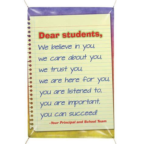 dear students    vinyl school banner positive promotions