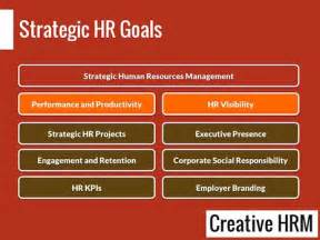 strategic hr goals and objectives exles