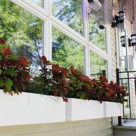 Self Watering Window Planters by Chic Self Watering Window Box Planters