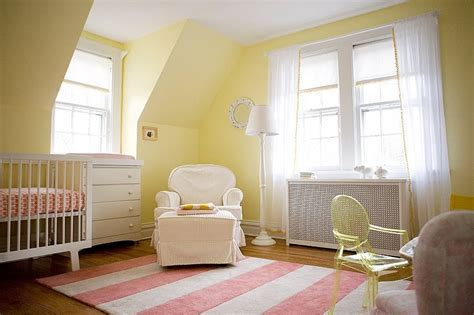 yellow baby bedroom buttery yellow and pink nursery design inspiration
