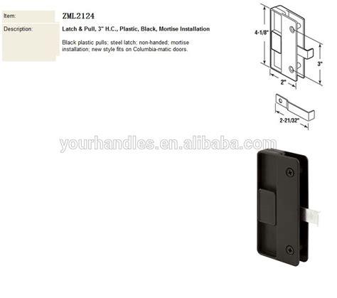 sliding screen door pull sliding screen door latch and pull black plastic pulls