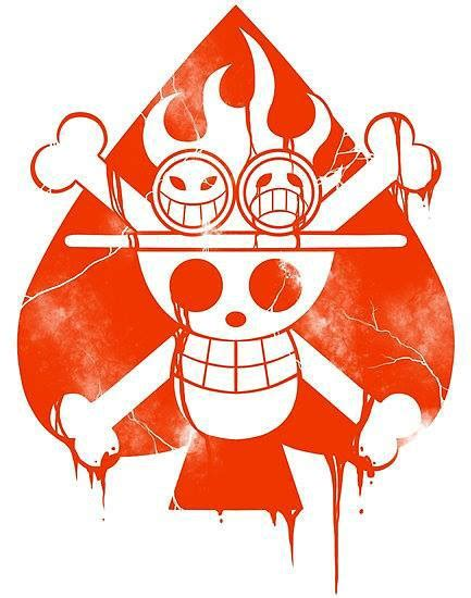 one piece jolly roger tattoo ace jolly roger jolly roger pinterest jolly roger