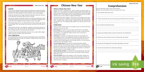 new year passage and questions new year differentiated reading comprehension activity