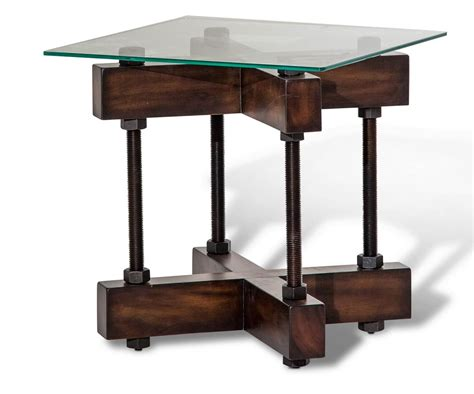 glass end table aico killington end table glass top