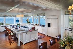 view kitchen designs traditional kitchen with ocean view and an island with breakfast counter decoist