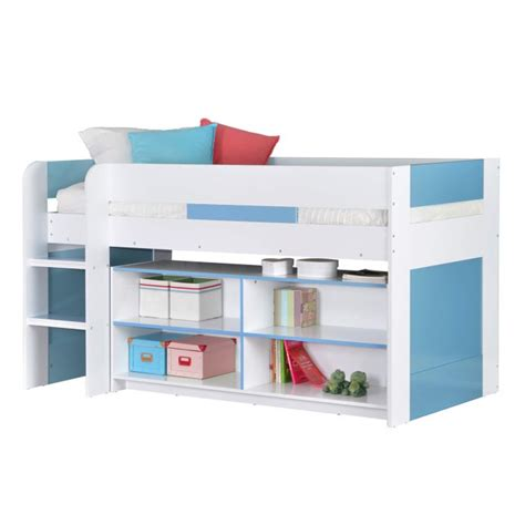Sleeper Yoyo by Yoyo Boys Mid Sleeper Bed In Blue White With Shelving