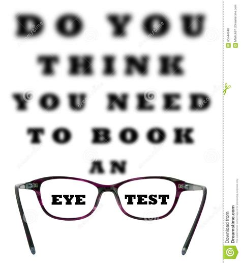 do you think you need to book an eye test stock photo