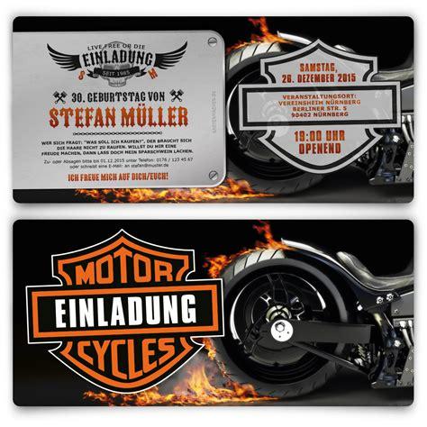 Hochzeitseinladung Motorrad by Einladungen Zum Geburtstag Biker Motorrad Feuer Metall
