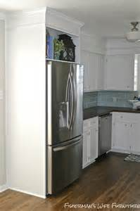 Cabinets Around Refrigerator Remodelaholic Small White Kitchen Makeover With Built In