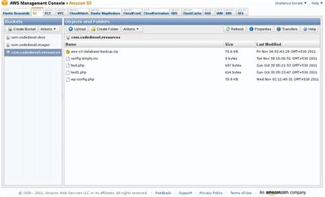 aws console integrating s3 with
