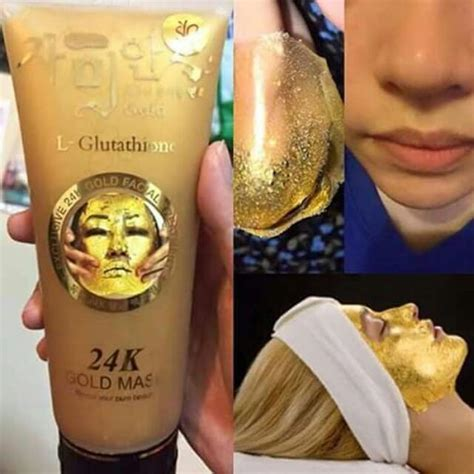 Pasaran Masker Mata design 24k gold masker l gluthathione ready stock open for wholesale retail
