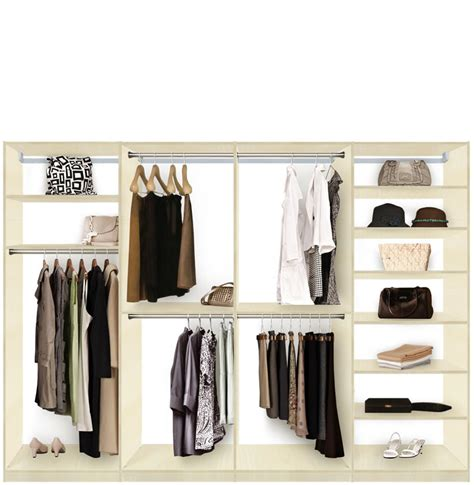 Isa Custom Closet System XL for Large Closets   Walk In or