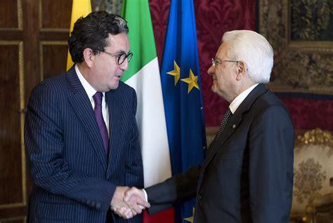 consolato colombiano roma presentaci 243 n de cartas credenciales embajador de