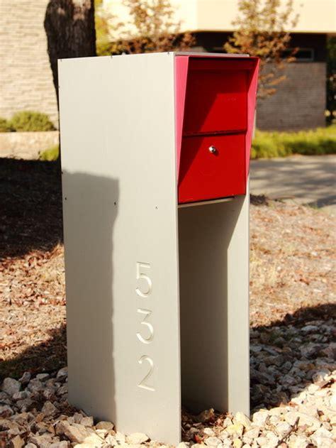 mid century modern mailbox design  color options